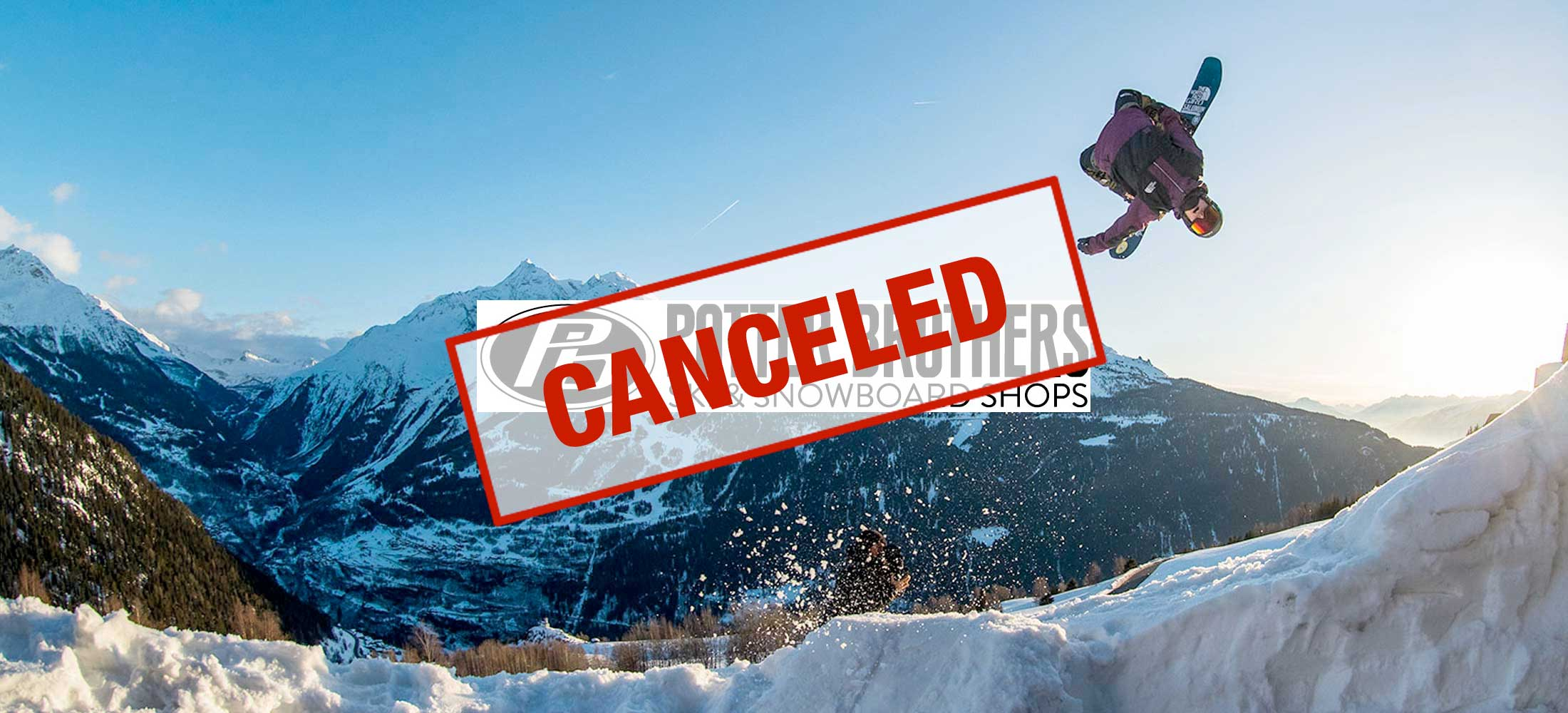 Potter Bros Ski Snowboard Clothing Sale CANCELED